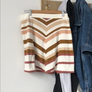 NEVER WORN- Free People Knit Skirt, size Large